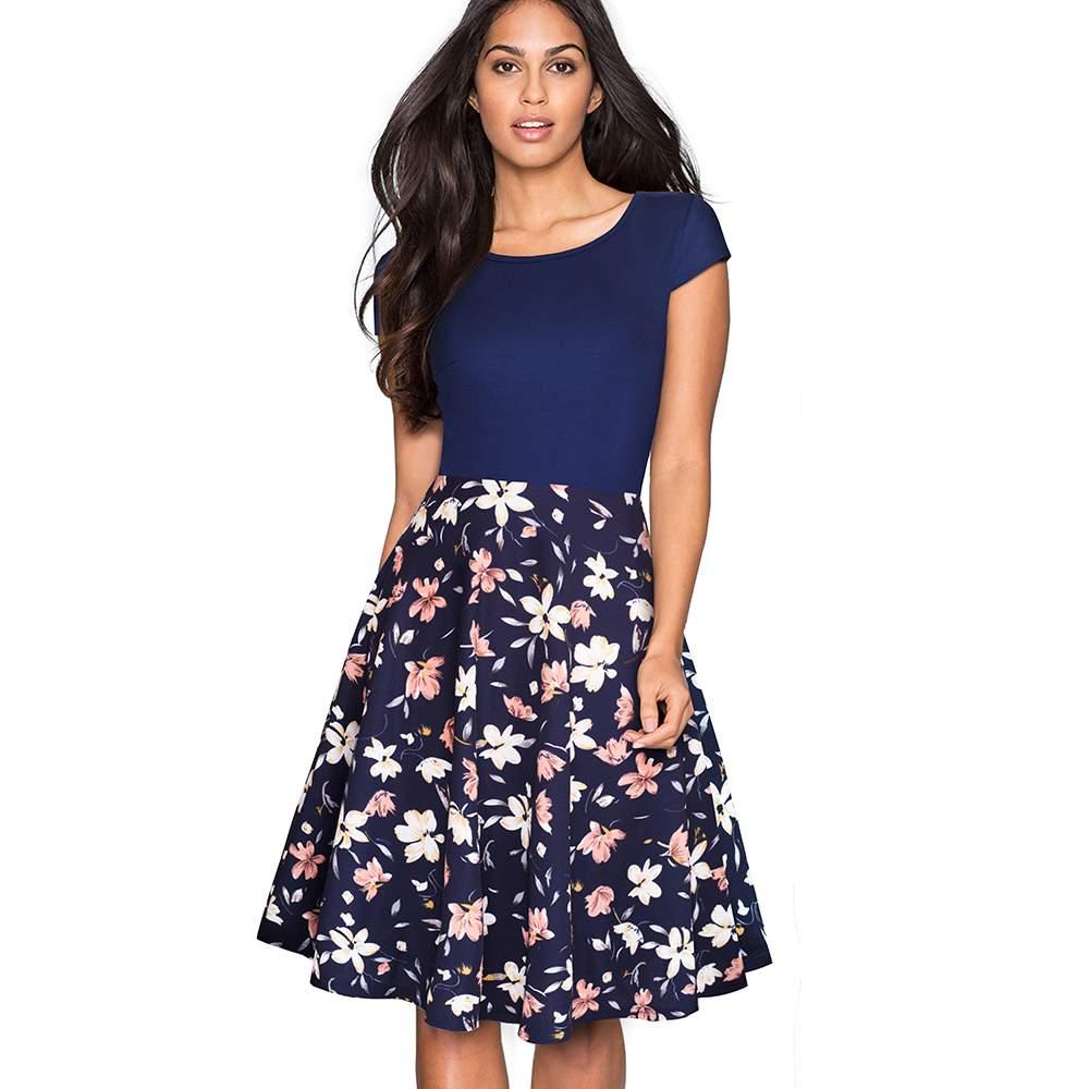 Dress ~ Women Summer Fashion Plus Size Swing A-line Dresses Elegant ...